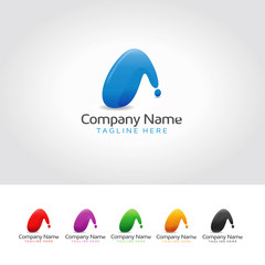Initial A Abstract Logo Design