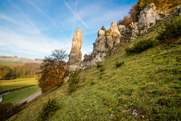 Spitzer Stein im Lautertal bei Reutlingen