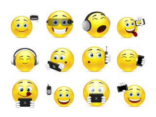 Smileys with gadgets