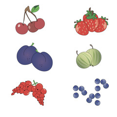 Set of icons berries