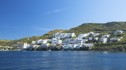 Wall Mural - View from the sea to the Kythnos island in Greece.
