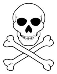 pirate skull and crossbones vector illustration
