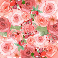 Pink and red flowers background
