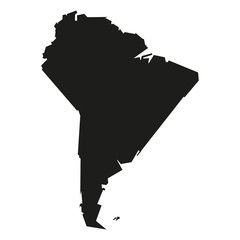 Minimal concept of the geographical map of South America