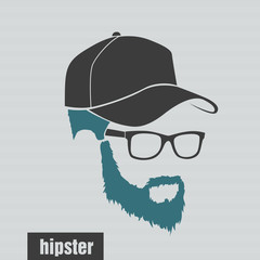 icons hairstyles beard and mustache hipster full face