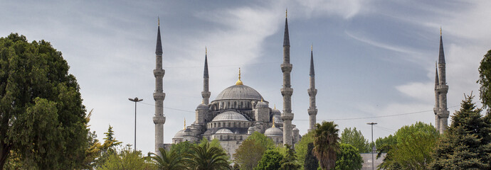 panorama of blue mosque
