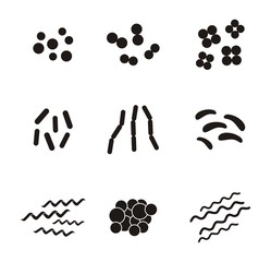 shapes of bacteria - pictogram
