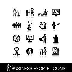 Business people icons set 4.