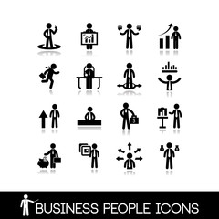 Business people icons set 11.