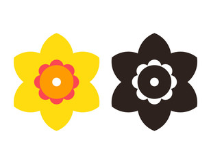 Narcissus - flower icon set