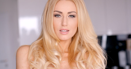 Close up Face of an Attractive Young Blond Girl