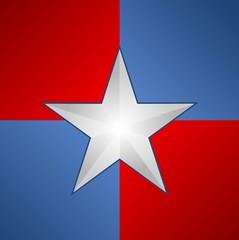 US American flag - star - illustration