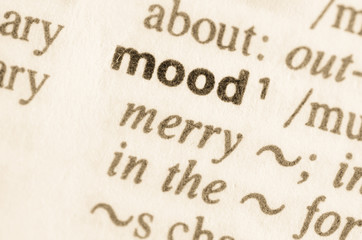 Dictionary definition of word mood