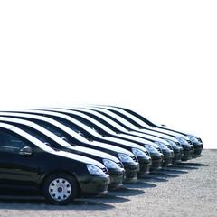 Fahrzeuge auf dem Parkplatz