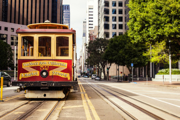 Cable Car in San Francisco Wall mural