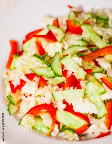 Салат перец китайская капуста фото