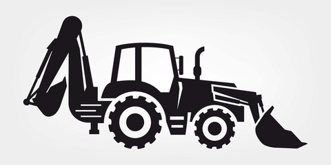 tractor and excavator
