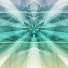 Abstract green geometric background. Vector Illustration