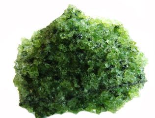 peridote geode geological crystals