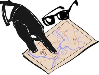Hand of mafia and map