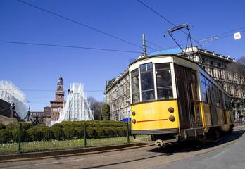 Tram nel centro di Milano