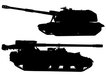 Wall Mural - Tanks silhouette