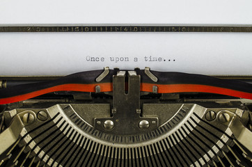 Once upon a time... word printed on an old typewriter