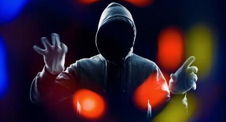 Cybercrime futuristic technology concept hacker attack