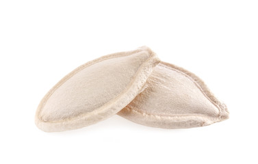 pumpkin seeds isolated on white background with clipping path