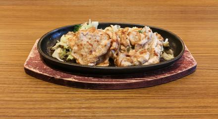 Fried pork steak - japanese style food