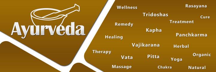 Ayurveda Golden With Keywords