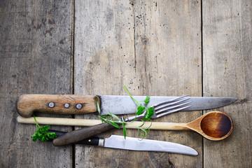 Holzlöffel Messer