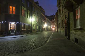 Autocollant pour porte Cracovie Maisto nocą