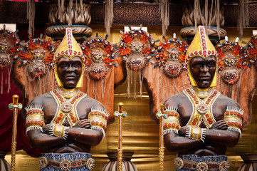 Decorations of Carnival Samba School Floats in Rio de Janeiro