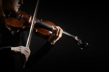 Violin player hands violinist