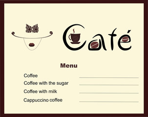 Vector illustration of coffee and cafe menu