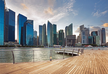 Foto op Plexiglas Singapore downtown area