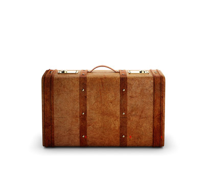 browh leather suitcase