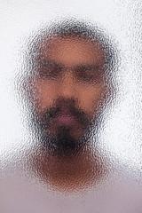 Blur of unidentified man portrait