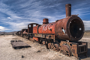 Cemetery of trains, Uyuni, Bolivia