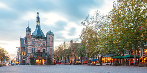 The central square in the Dutch city Deventer