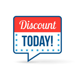 Discount tag for online shop in flat design. Use on labels