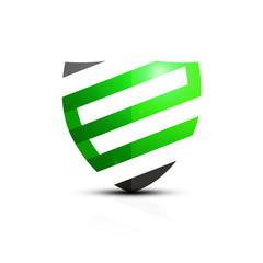 Zielona ikona e-tarczy - fototapety na wymiar