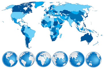 World Map With Countries Country And City Names Buy This Stock