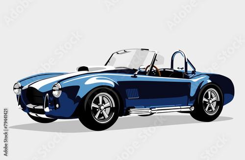 classic sport blue car ac shelby cobra roadster. Black Bedroom Furniture Sets. Home Design Ideas