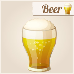 Detailed Icon. Glass of beer.
