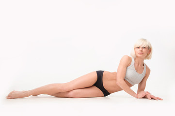 athletic figure of a young woman