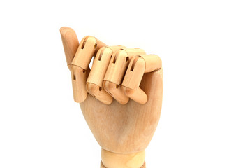 Holzhand geschlossen
