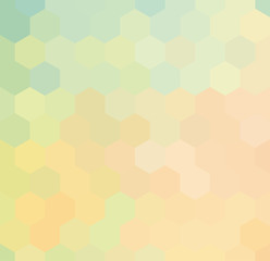 Vector hexagonal background. Colorful geometric background
