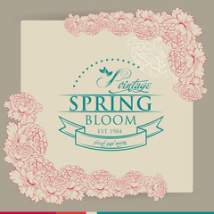 Spring Typographic  on Vintage background